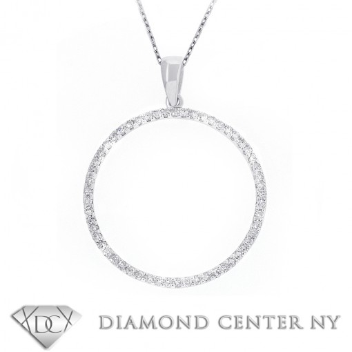 Circle pendant circle of lovediamond necklace 1 aloadofball Images