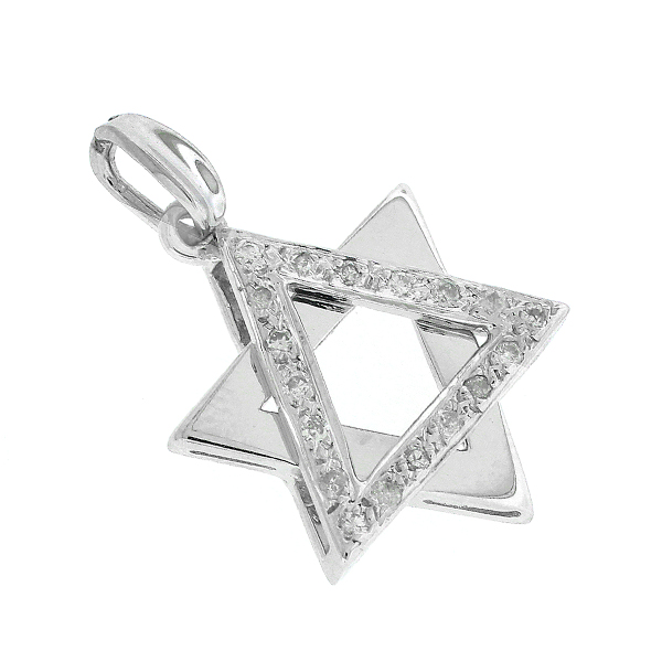 020 ct tw diamond star of david pendant in 14k white gold fcxc aloadofball Choice Image